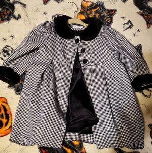 Baby coat and dress set